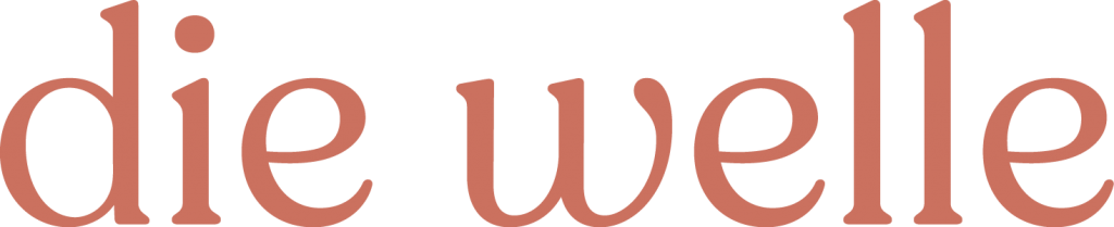 Die Welle cinnamon-coloured logotype.